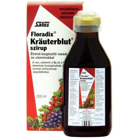 Floradix Kräuterblut szirup vassal és vitaminokkal 250 ml - krauterblut szirup vassal 250 ml