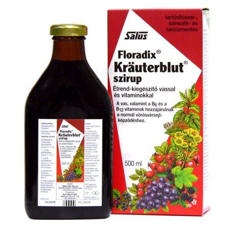 Floradix Kräuterblut szirup vassal és vitaminokkal 500 ml - krauterblut szirup vassal 500 ml